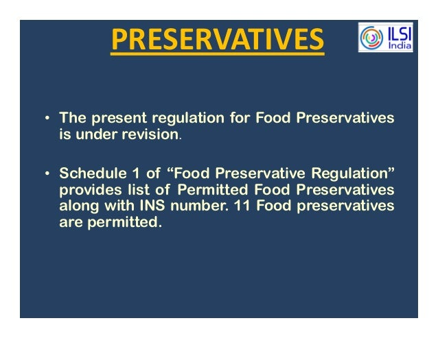 Food Preservatives List Of Chemical