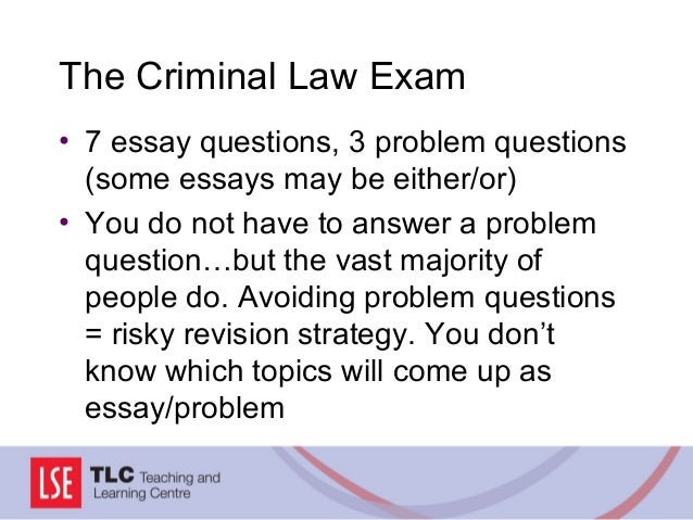 criminal problem question essays Criminal law question and answer question : deception & non payment i recently discovered a friend of mine is being investigated by the dss for benefit fraud.