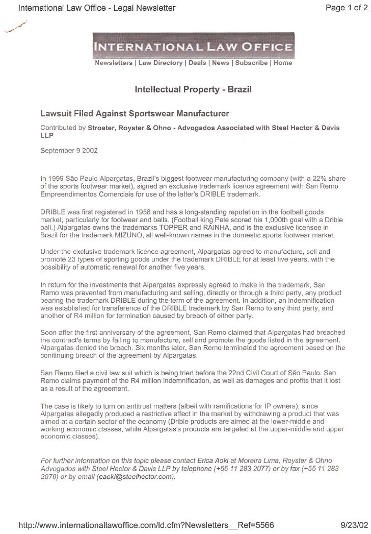 International Law Office - Legal Newsletter                                                           Page 1 of 2         ...