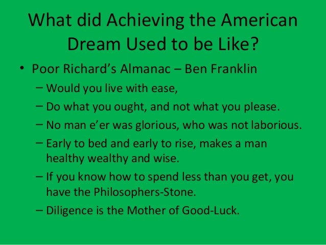 ben franklin and the american dream