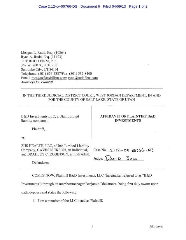 Case 2:12-cv-00766-DS Document 6 Filed 04/09/13 Page 1 of 2