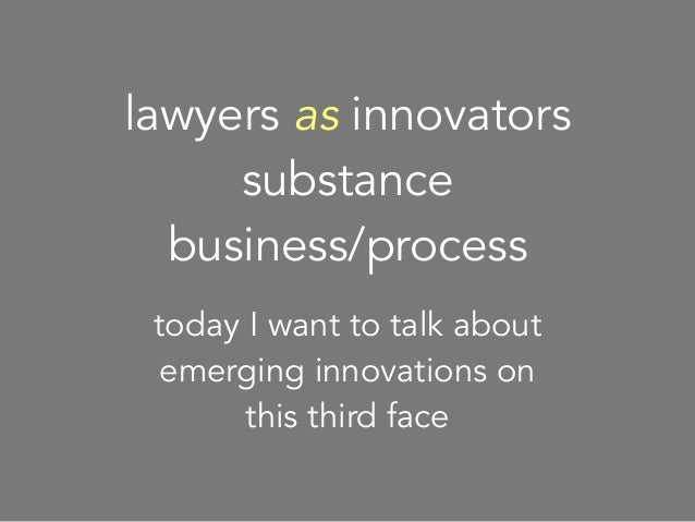 Four Pillars of Innovation in Law
