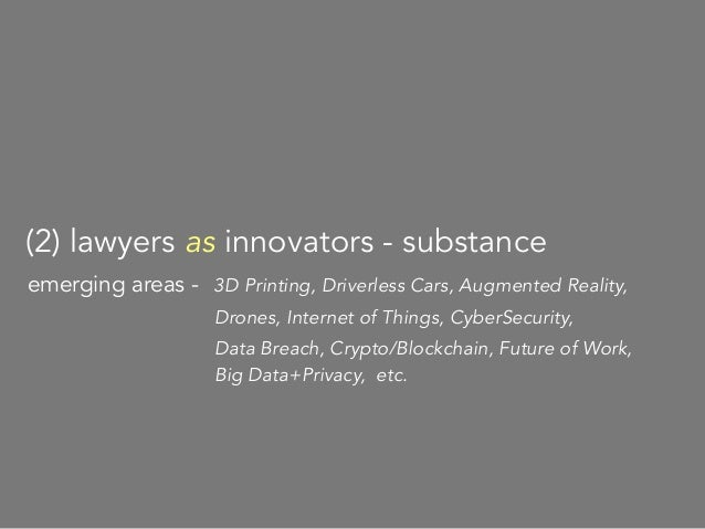 (3) lawyers as innovators - business/process