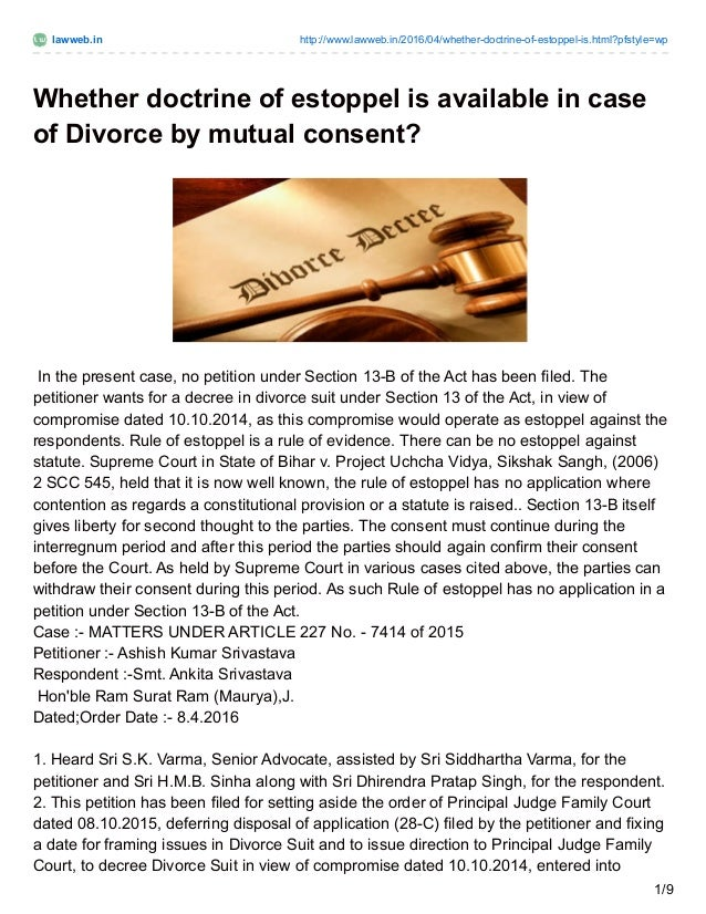 How to convince wife for mutual divorce in india