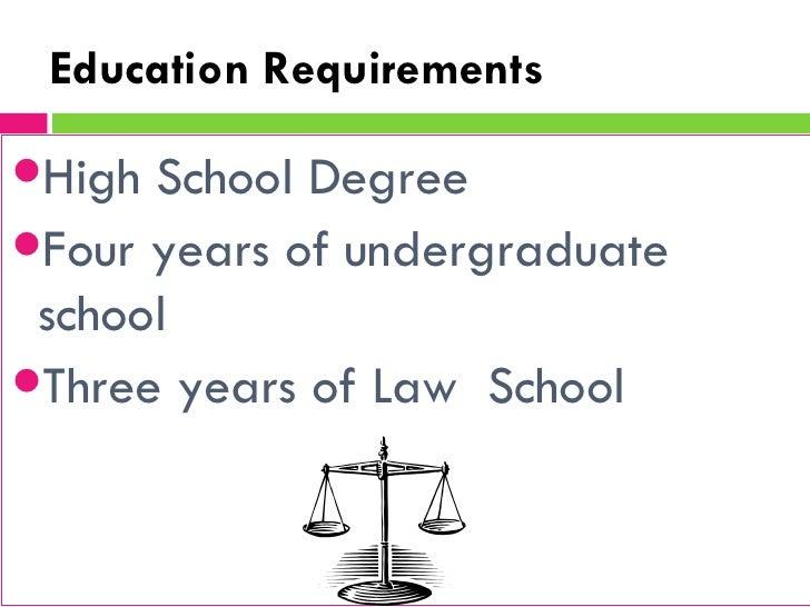 Attorney Education Needed