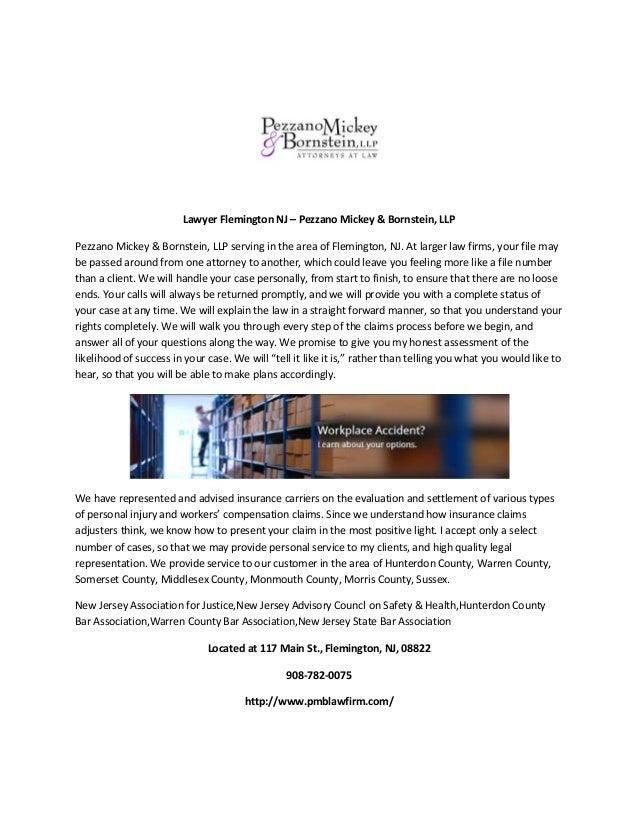 Lawyer Flemington NJ – Pezzano Mickey & Bornstein, LLP Pezzano Mickey & Bornstein, LLP serving in the area of Flemington, ...