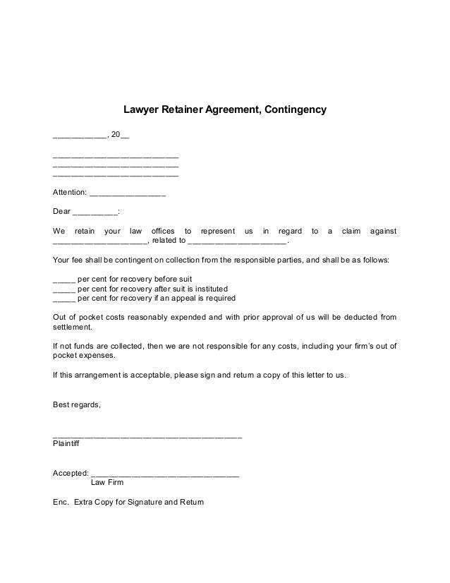 High Quality Lawyer Retainer Agreement Form Design Ideas