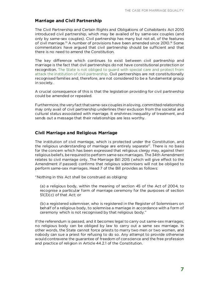 marriage rights essay