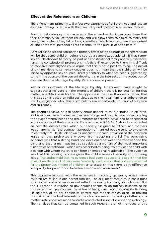 position paper gay marriage Position paper on marriage institution of marriage in this position paper condemns same-sex unions and sexual intercourse between people of the same sex.