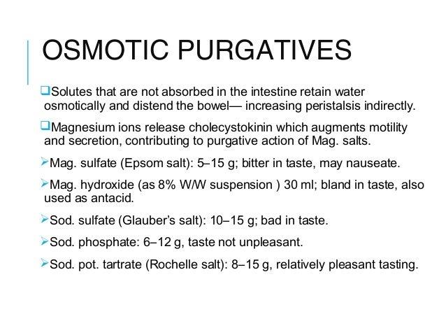 Glaubers salt - constipation is not terrible