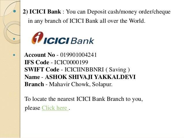 icici bank swift code