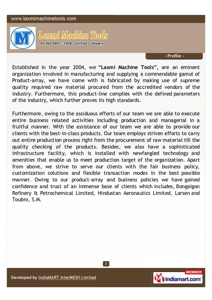 Laxmi Machine Tools, Ghaziabad, Industrial Machine Components Slide 2