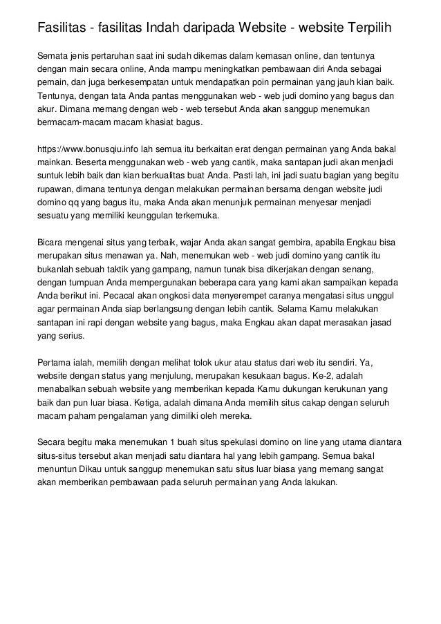 Fasilitas - fasilitas Indah daripada Website - website Terpilih Semata jenis pertaruhan saat ini sudah dikemas dalam kemas...