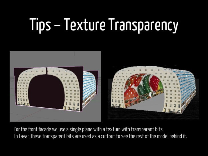 Tips – Texture Transparency
