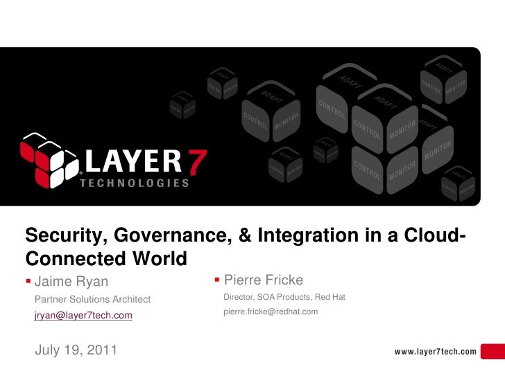 Security, Governance, & Integration in a Cloud-Connected World Jaime Ryan                    Pierre Fricke Partner Solut...