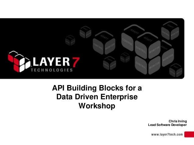 API Building Blocks for aData Driven EnterpriseWorkshopChris IrvingLead Software Developer