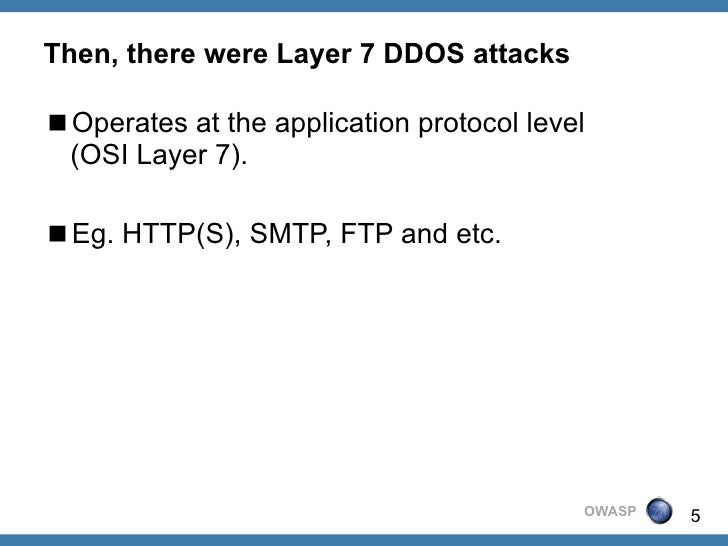 thesis on application layer ddos attacks Layer 7 attacks harness the web application logic and aim at exhausting the resources of a web server as it processes tough queries, as well as intensive processing functions or memory distributed denial-of-service attacks zeroing in on popular websites are typically deployed using thousands.