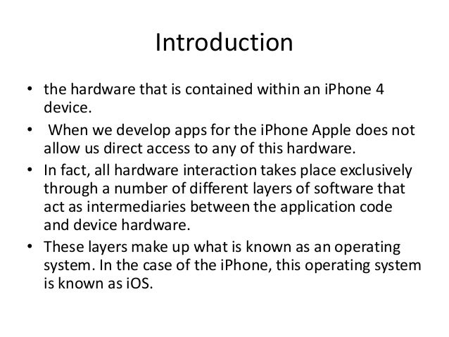 Layer architecture of ios (1) Slide 2