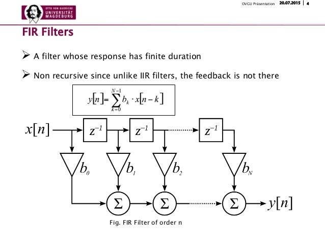 a non recursive filter Non-recursive digital filters have a weighting sequence (impulse response), g( i)  t, which is finite in length, and consequently this type of filter is commonly.