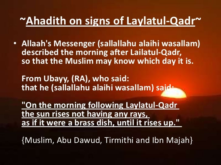 signs of lailatul qadr night