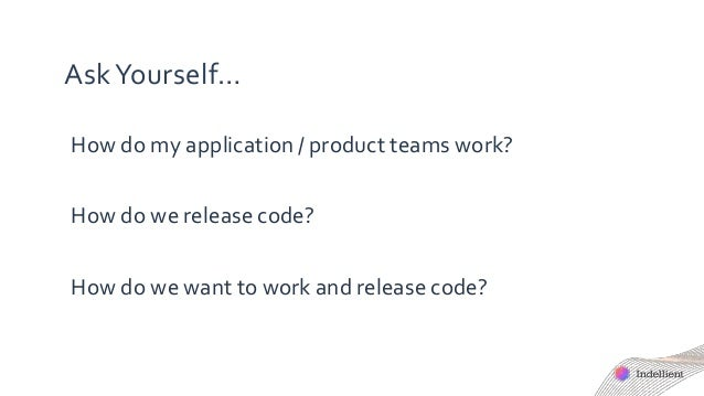 AskYourself… How do my application / product teams work? How do we release code? How do we want to work and release code?