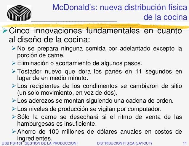 McDonald's: nueva distribución física              _____________________________  de la cocina   Cinco innovaciones fundam...