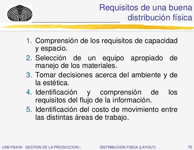 Requisitos de una buena              _____________________________ distribución física           1. Comprensión de los req...
