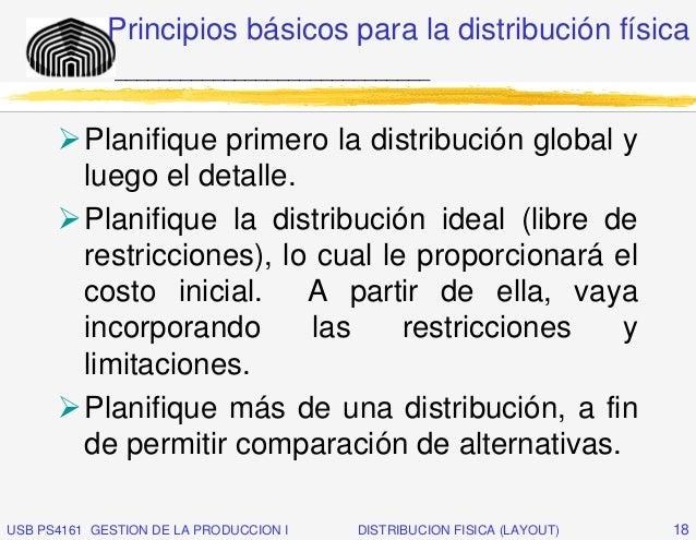 Principios básicos para la distribución física              _____________________________          Planifique primero la d...