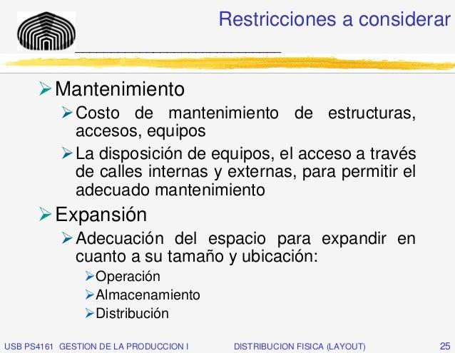 Restricciones a considerar              _____________________________          Mantenimiento              Costo de manteni...