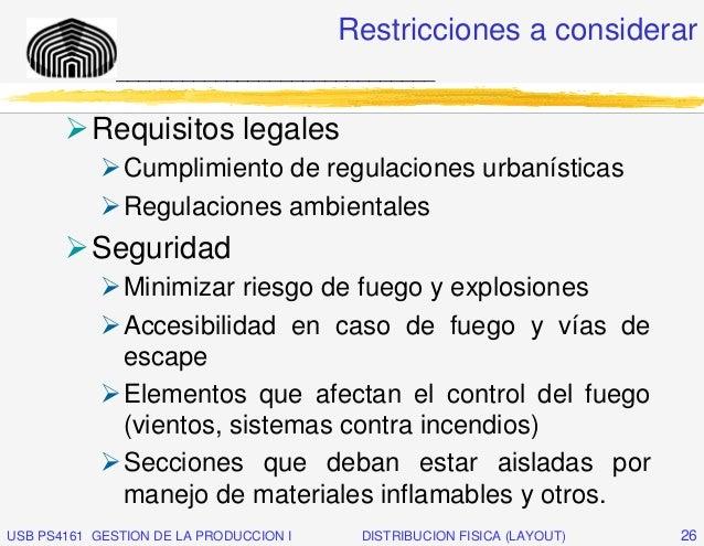 Restricciones a considerar              _____________________________           Requisitos legales               Cumplimie...