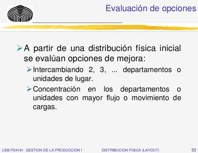 Evaluación de opciones              _____________________________          A partir de una distribución física inicial    ...