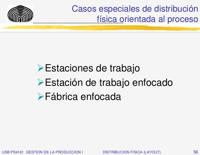 Casos especiales de distribución                                  física orientada al proceso              _______________...