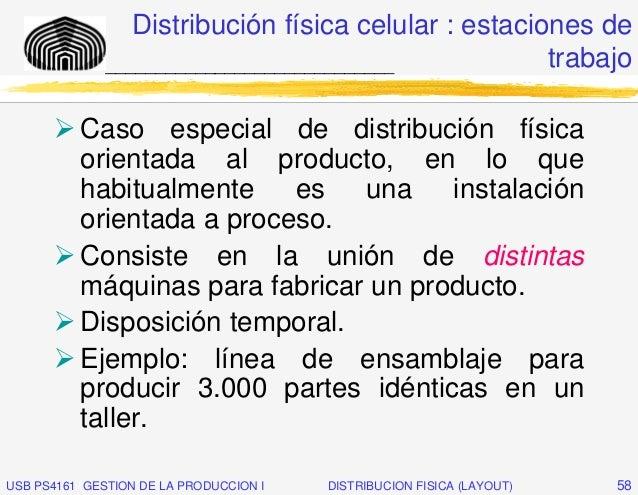 Distribución física celular : estaciones de              _____________________________           trabajo          Caso esp...