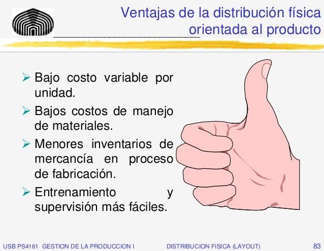 Ventajas de la distribución física                                         orientada al producto              ____________...