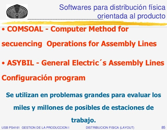 Softwares para distribución física                                         orientada al producto              ____________...
