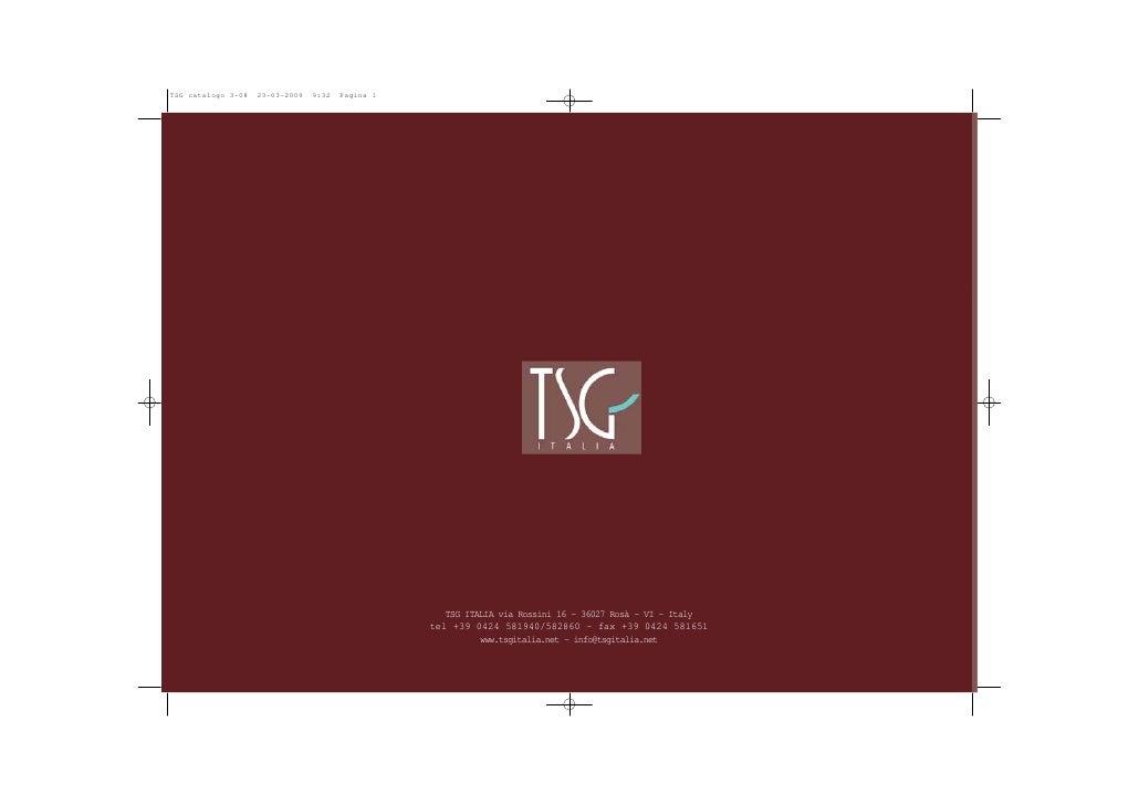 TSG catalogo 3-08   23-03-2009   9:32   Pagina 1                                                           TSG ITALIA via ...