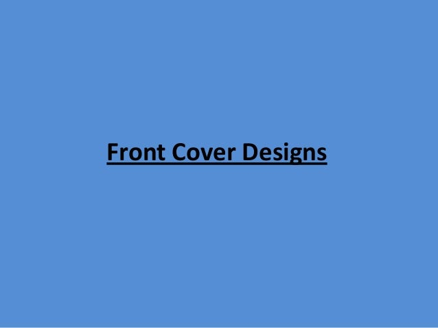 Front Cover Designs