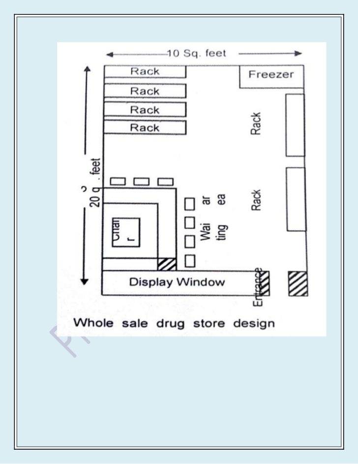 Layout For Medicine Store