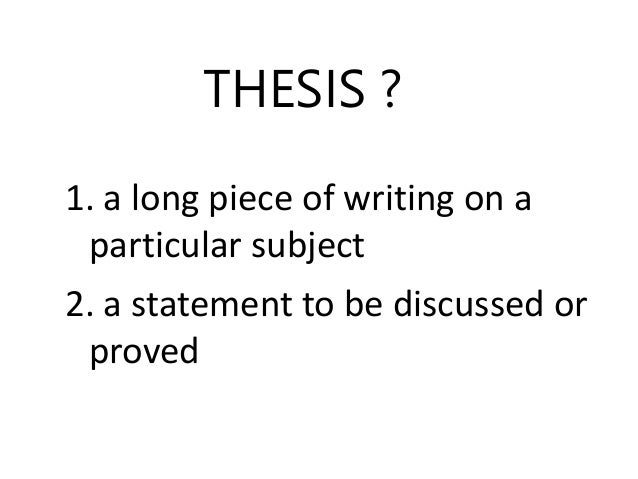 thesis and political science