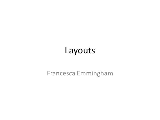LayoutsFrancesca Emmingham