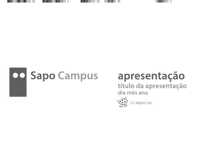 Layout Sapo Campus