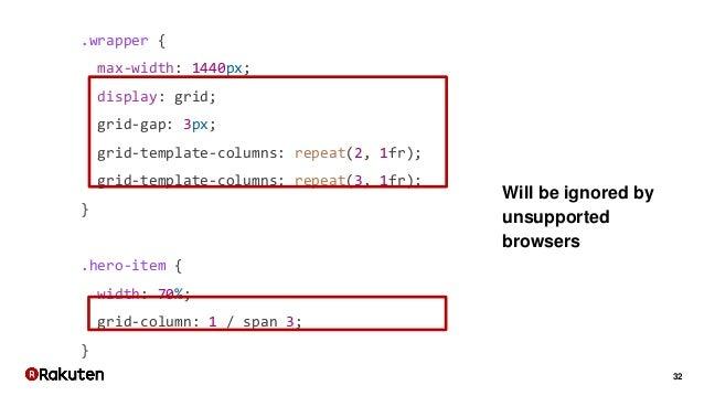 32 .wrapper { max-width: 1440px; display: grid; grid-gap: 3px; grid-template-columns: repeat(2, 1fr); grid-template-column...