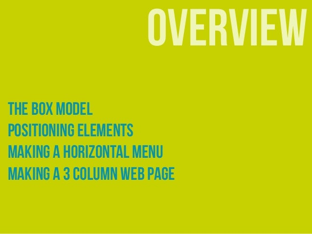 Layout with CSS Slide 2