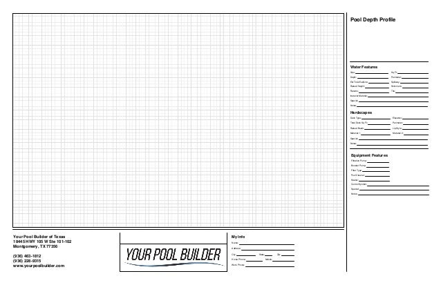 Pool Design Layout worksheet | Your Pool Builder of Texas