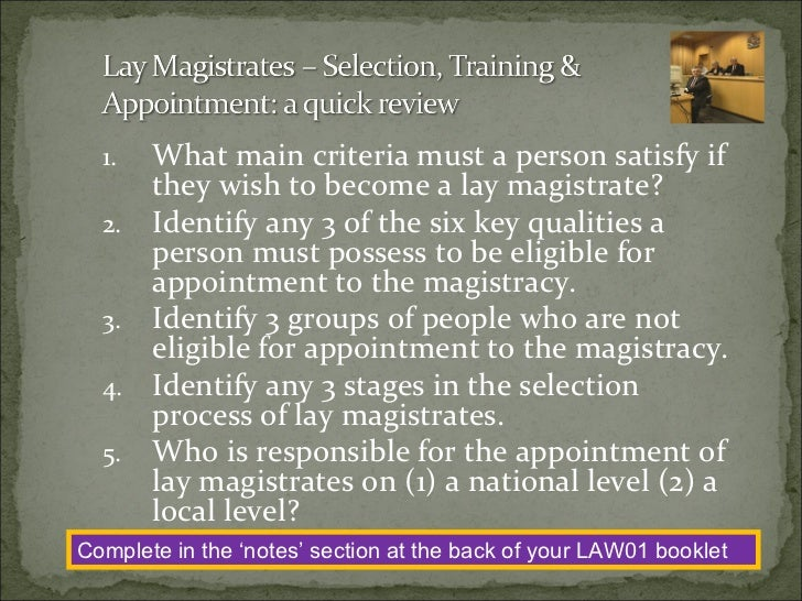 the role of lay people