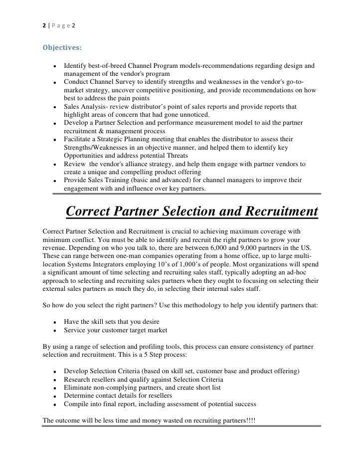 Channel Checklist for Vendor Channel/Partner Managers Slide 2