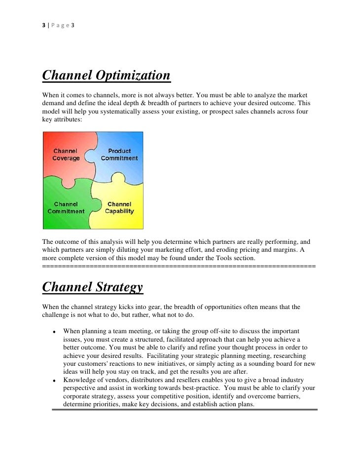 Channel Checklist for Vendor Channel/Partner Managers Slide 3