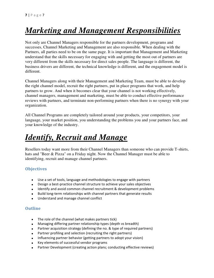 Channel checklist for vendor channelpartner managers channel program development thecheapjerseys Gallery