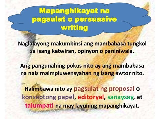 halimbawa ng masining na talambuhay Tinatalakay sa librong ito ang mabisa at masining na pagsulat na nakapokus sa apat na uri ng diskors -- ang narativ, descriptiv, expositori, at argyumentativ.