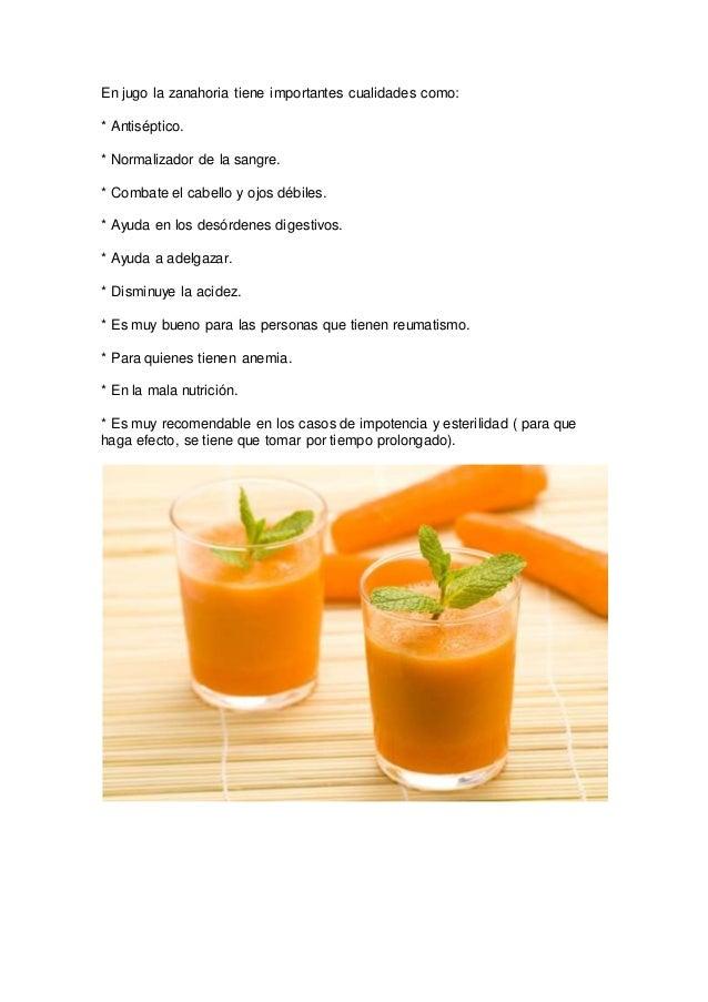 Como hacer el jugo de zanahoria para adelgazar